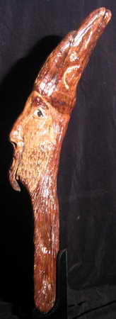 Wood Spirit Carved in Found Wood