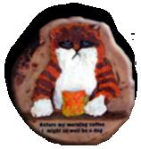Grumpy Cat - a mixed media carving