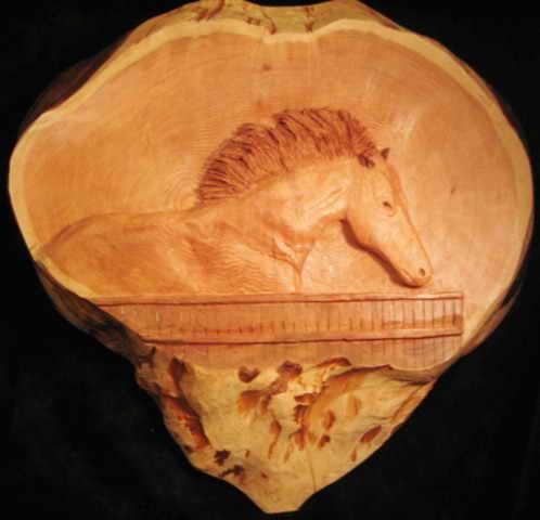 Horse in Red Cedar